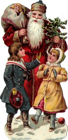 Beautiful Images from the Past IV Mary Christmas, Christmas Collage, Christmas Scenes, Christmas Past, Vintage Christmas Images, Victorian Christmas, Santa Pictures, Christmas Pictures, Vintage Santa Claus