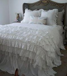 pretty ruffled comforter