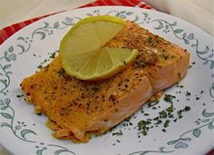 microwave salmon fillets (fish needs 3 mins per pound to cook)