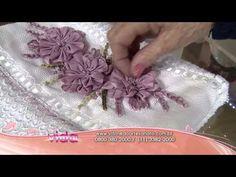 Vida com Arte | Toalha de Lavabo Bordado de Margaridas por Valéria Soares - 26 de Novembro de 2014 - YouTube