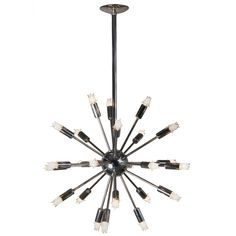 Chrome Sputnik Chandelier | From a unique collection of antique and modern chandeliers and pendants  at http://www.1stdibs.com/lighting/chandeliers-pendant-lights/
