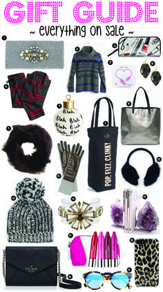 GIFT GUIDE // EVERYTHING ON SALE
