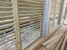 Custom Shutters, Horizontal Fence, Pergola, Woodworking, Wood Work, Board, House, Ideas, Gardens