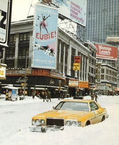 Winter 1970s Times Square, NYC ~ Taxi