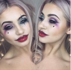 Jamie Genevieve Harley Quinn make up. I've already got my outfit so doing something like this with my make up