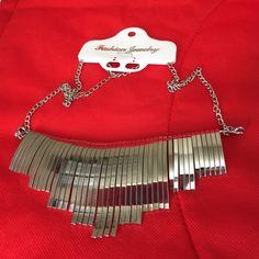 Silver Tone Metal Statement Necklace. Brand new. Fashion Jewelry Jewelry Necklaces