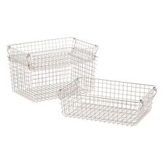 Stackable Wire Storage Baskets with Handles | The Container Store