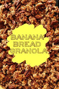Banana Bread Granola! via http://MINIMALISTBAKER.COM