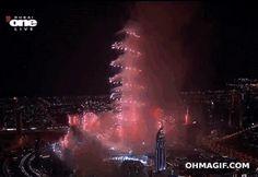 Burj Dubai new years eve fireworks 2013