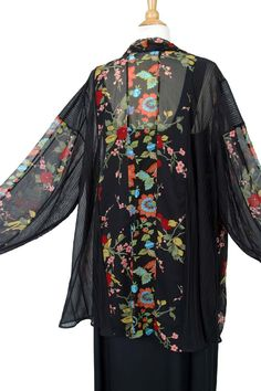 Plus Size Dressy Drape Jacket Artwear Brights Black Florals 26/28 SHOP NOW: Unique jackets for women Sizes 14 - 36, mother of the bride, special occasion, artwear, elegant, unique women's clothing,xoxPeg #plussizesale #PeggyLutzPlus #PlusSize #style #plussizestyle #plussizefashion #womenstyle #womanstyle #womanfashion #holidaystyle #fallstyle #fallfashion #fallformal #eveningwear #style #couture #elegantwoman #elegantplus #uniquejackets #divastyle