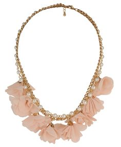 Pearlescent Rosette Necklace