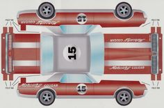 paper models trans am  | PAPERMAU: 1967`s Trans Am Mercury Cougar Paper Model - via Mercury ...