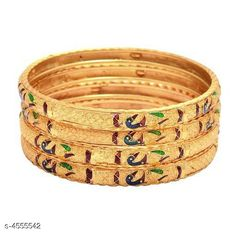 Bangles & Bracelets Allure Fusion Bangles Base Metal: Brass Plating: Gold Plated Stone Type: Artificial Stones Sizing: Non-Adjustable Type: Bangle Set Multipack: 4 Sizes: Country of Origin: India Sizes Available: 2.4, 2.6, 2.8, 2.10   Catalog Rating: ★4 (486)  Catalog Name: Allure Fusion Bangles CatalogID_659489 C77-SC1094 Code: 162-4555542-435