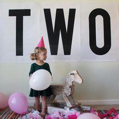 oversized birthday sign