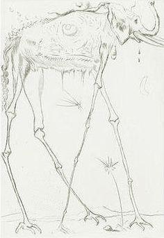 """""""Elephant""""  by  Salvador Dali"""