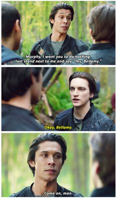 Murphy and Bellamy #murphamy  The 100 and B99 by theark99 on tumblr
