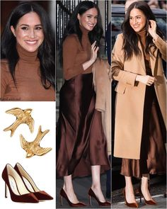 A little guide for us girls to have a sense of idea about what a few of celebrity styles Meghan Markle Outfits, Meghan Markle Style, Jimmy Choo, Young Fashion, Asian Fashion, Princess Meghan, Elisabeth Ii, Rocker Girl, Royal Dresses