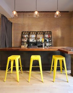 ignore colors - the idea of a coffee bar area to meet/collaborate could be cool  could consist of 3 areas: office/personal spaces living room/casual meeting/collaborative space coffee bar space with enough seating to meet