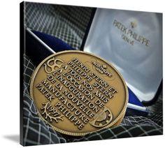 "Patek Philippe Geneve Commemorative Medal Coin $369 // Style: Black Edge Canvas Print; Size: Massive 44"" x 59"" // Visit http://www.imagekind.com/Patek-Philippe-Geneve-PPG_art?IMID=bae1610e-bc86-4d74-b114-9f3600a883e3 for product details."
