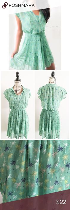 """LC Dark Minty Green Dress ✦this dark minty green dress has a semi sheer top with a silky slip underneath. It's a gorgeous piece for Spring✦{I am not a professional photographer, actual color of item may vary ➾slightly from pics}  ❥chest:20"""" ❥waist:13.5"""" w/stretch ❥length:34"""" ❥sleeves:7"""" ➳material/care:polyester/machine wash  ➳fit:like a medium  ➳condition:good no seen rips/stains   ✦20% off bundles of 3/more items ✦No Trades  ✦NO HOLDS ✦No transactions outside Poshmark  ✦No lowball…"""