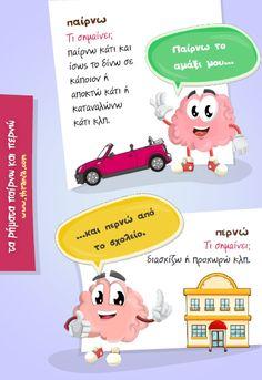 Greek Language, Kids Corner, Dyslexia, Grammar, Spelling, Teacher, Activities, Education, Math