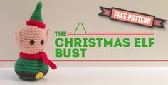 Amigurumi Christmas Elf Bust Free pattern amigurumi