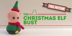 Amigurumi Christmas Elf Bust