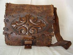 leather bag. i love the edges