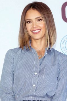 The sleek graduated bob on Jessica Alba. Ready for a change this summer? Try one of the season's 10 hottest haircuts.