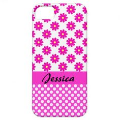Personalized Pink Girly Name - iPhone 5 Cover