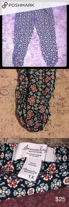 AMERICAN RAG PANTS Cute lounge pants 100% rayon and so comfy!  Weekend wear for any closet!  Pretty print too!  Goes with denim or black....and cute shoes American Rag Pants Ankle & Cropped