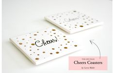 The DIY Files: Personalized Polka Dot Coasters