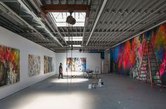 José Parlá's new Brooklyn Studio