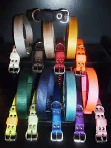 """Blocky Dogs collars - 1"""" width BABY BLOCKY Collar colors. Puppy collars. Custom Dog Collars, Puppy Collars, Leather Dog Collars, Small Dogs, Dogs And Puppies, Choices, Cool Stuff, American, Colors"""