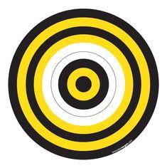 Black & Yellow Printable Target
