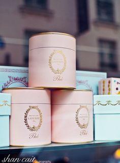 Laduree Tea Colored package with silver logo?