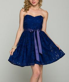 Look at this #zulilyfind! Royal Damask Organza Strapless Sweetheart Dress #zulilyfinds