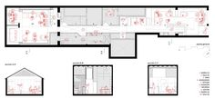 restaurant and cafe floor plan Cafe Floor Plan, Floor Plans, Plan Design, Layout Design, In Plan, How To Plan, Sketch Bar, Decoration For Ganpati, Interior Sketch