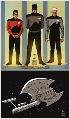 Bat Trek (Batman/Star Trek mashup) by Francesco Francavilla