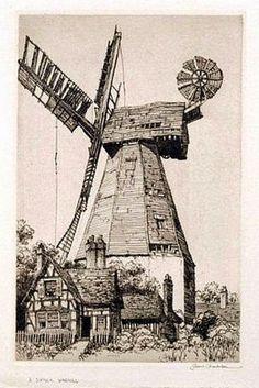 Samuel V. Chamberlain (1875-1975, American) - A Suffolk Windmill - 1939
