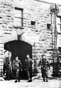 1940 - 2013-Coalhouse Fort-Troops at the entrance of the Fort during World War II