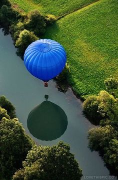 Hot Air Balloon over Beautiful Scenery photography scenic nature greenery hot air balloon