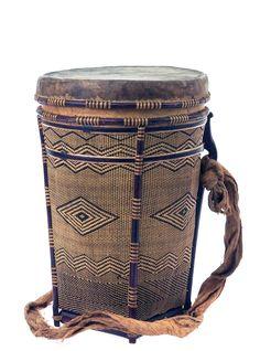 Dayak lidded basket collected in 1897 in Kalimantan Barat Province, Indonesia