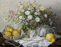 lydia datsenko | Lydia Datsenko (b.1948) — (800x623) | Still Life — 21th centry 1 ...