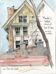 great sketch using watercolor and pencil art journal sketchbook