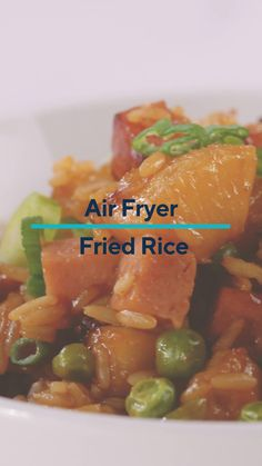 Learn how to make this quick & easy recipe for Fried Rice in your air fryer! Complete with supermarket shortcuts and an air fryer, this recipe comes together in the comfort of your own home! Homemade Fried Rice, Appetizer Recipes, Dinner Recipes, Air Frying, Cafe Food, Air Fryer Recipes, Lunches And Dinners, Quick Easy Meals, Food Inspiration