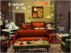 Sims Studio: Central Perk • Sims 4 Downloads