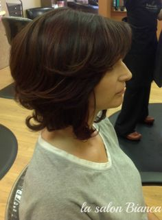 Creative dimensional hair color and cut. Love this for Fall! It's a possibility.....