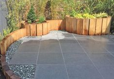 Transform your exterior with Blue Black Granite Paving from just Incl. Laying Paving Slabs, Patio Slabs, Bluestone Patio, Natural Stone Pavers, Paving Stones, Backyard Patio, Backyard Landscaping, Patio Kits, Granite Paving