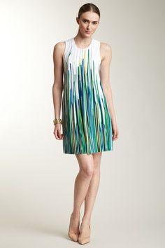 Calvin Klein Outerwear Knit Sleeveless Pleat Dress
